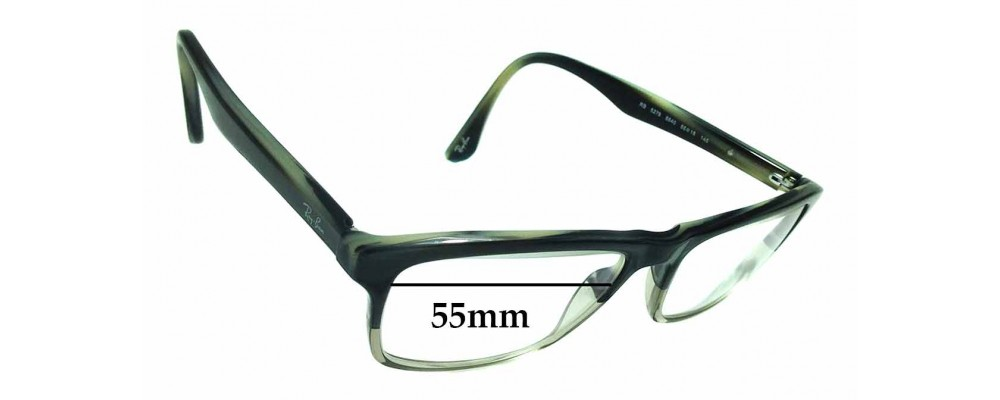 Sunglass Fix Replacement Lenses for Ray Ban T RB5279 - 55mm wide