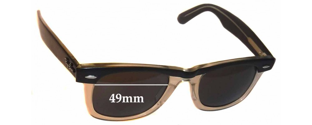 Ray Ban Wayfarer II Replacement Sunglass Lenses 49mm wide