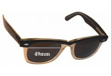 52f8a63c593 Ray Ban Wayfarer II Replacement Sunglass Lenses 49mm wide