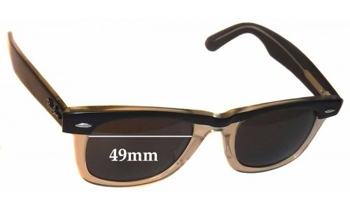 Ray Ban Wayfarer II Replacement Sunglass Lenses 49mm wide