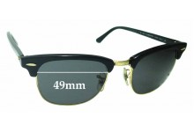 47181a30b96 Ray Ban WO365 RB3016 Clubmaster Replacement Sunglass Lenses - 49mm Wide