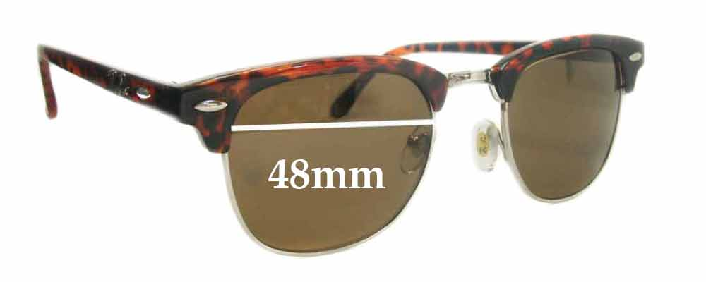 Ray Ban RB3016 Clubmaster Replacement Sunglass Lenses - 48mm Wide