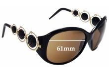 Sunglass Fix New Replacement Lenses for Roberto Cavalli Blenda 440S - 61mm Wide