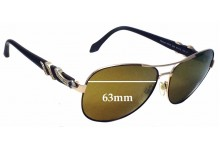 Sunglass Fix New Replacement Lenses for Roberto Cavalli Maasym 880S - 63mm Wide