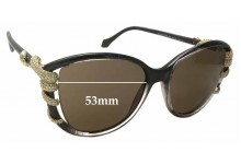 Sunglass Fix New Replacement Lenses for Roberto Cavalli Sterope 972S - 53mm Wide