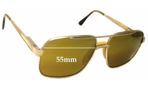 Safilo Elasta 3055 Replacement Sunglass Lenses - 55mm wide