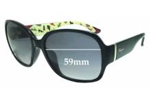 Salvatore Ferragamo SF603S Replacement Sunglass Lenses - 59mm wide