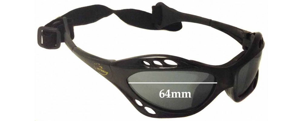 Seabreeze Kite Surfer Replacement Sunglass Lenses - 64mm wide