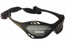 Sunglass Fix New Replacement Lenses for Seabreeze Kite Surfer - 64mm Wide