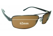 Sunglass Fix Replacement Lenses for Serengeti San Remo - 62mm wide