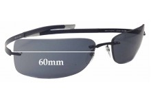 Silhouette 8628 WE CAN NOT CREATE LENSES FOR THIS PRODUCT Replacement Sunglass Lenses - 60mm Wide