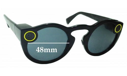 Sunglass Fix Replacement Lenses for Snapchat Spectacles - 48mm wide
