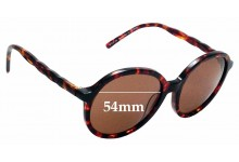 Sunglass Fix Replacement Lenses for Spec Savers Marsala Sun Rx - 54mm wide