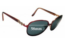 Sunglass Fix Replacement Lenses for Specsavers Sun Rx 151 - 58mm Wide