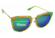 Sunglass Fix Replacement Lenses for Stephane Christian Bunker - 55mm Wide