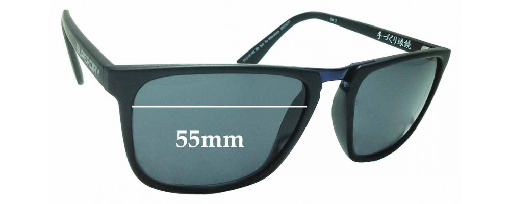 Sunglass Fix New Replacement Lenses for Superdry SD Sun Rx Aftershock - 55mm Wide