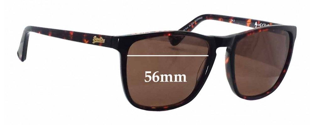 Superdry SD Sun Rx Ichi Replacement Sunglass Lenses - 56mm wide