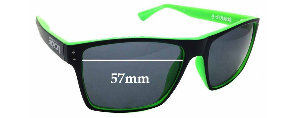 Ultimate Silver Mirror Black Pair-Regular SFx Replacement Sunglass Lenses fits Superdry SD Sun Rx Kobe 57mm wide