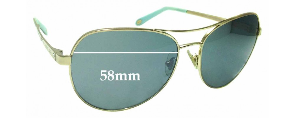 1b0d3821a05 Sunglass Fix Replacement Lenses for Tiffany   Co TF 3051-B - 58mm wide