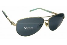 Tiffany & Co TF 3049-B Replacement Sunglass Lenses - 58mm wide