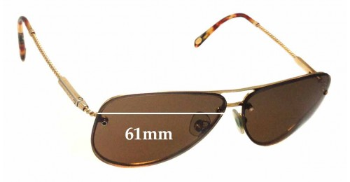 Tiffany & Co TF 3039-B Replacement Sunglass Lenses - 61mm wide