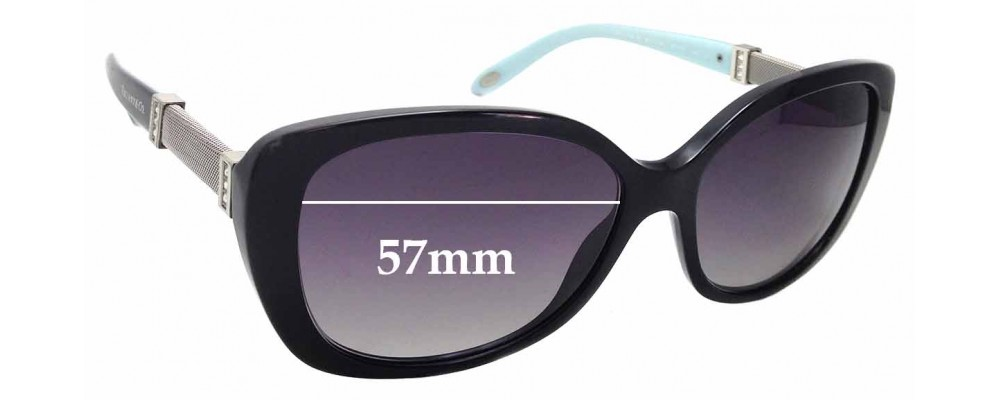 36a59bbfca71 Sunglass Fix Replacement Lenses for Tiffany   Co TF 4106-B - 57mm Wide