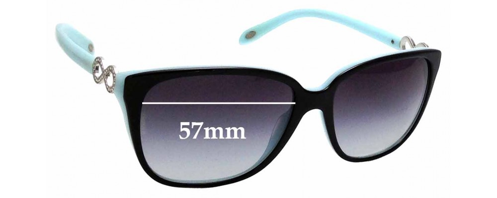 694e0baf5bf Sunglass Fix Replacement Lenses for Tiffany   Co TF4111-B - 57mm Wide