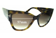 Sunglass Fix Replacement Lenses for Tom Ford Anoushka TF371 - 57mm wide