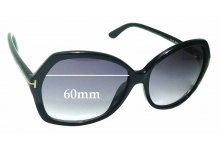 Tom Ford Carola TF328 Replacement Sunglass Lenses - 60mm wide