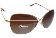 Tom Ford Colette TF250 Replacement Sunglass Lenses - 63mm wide