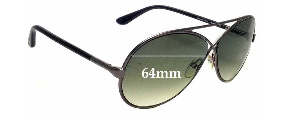bdababa29a6aa Sunglass Fix Replacement Lenses for Tom Ford Georgette TF154 - 64mm Wide
