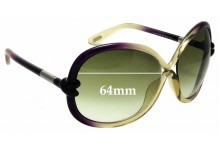 Sunglass Fix Replacement Lenses for Tom Ford Sonja TF185 - 64mm Wide