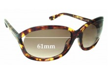 Tom Ford Vivienne TF278 Replacement Sunglass Lenses - 61mm Wide