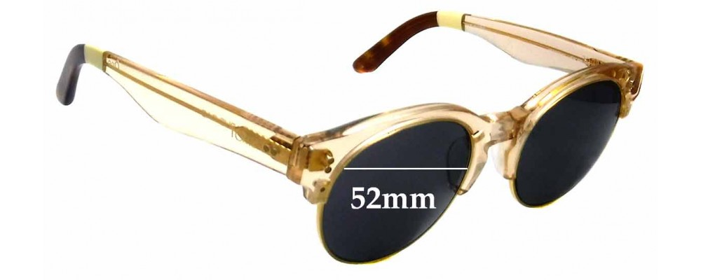Sunglass Fix Replacement Lenses for Toms Charlie Rae - 52mm Wide