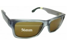 Sunglass Fix New Replacement Lenses for Toms Culver - 56mm Wide