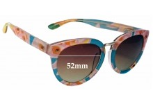 Sunglass Fix New Replacement Lenses for Toms Yvette Summer Pineapple - 52mm Wide