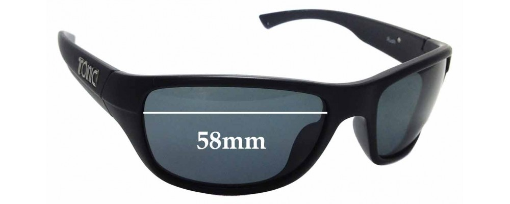 Sunglass Fix Replacement Lenses for Tonic Rush- 58mm Wide
