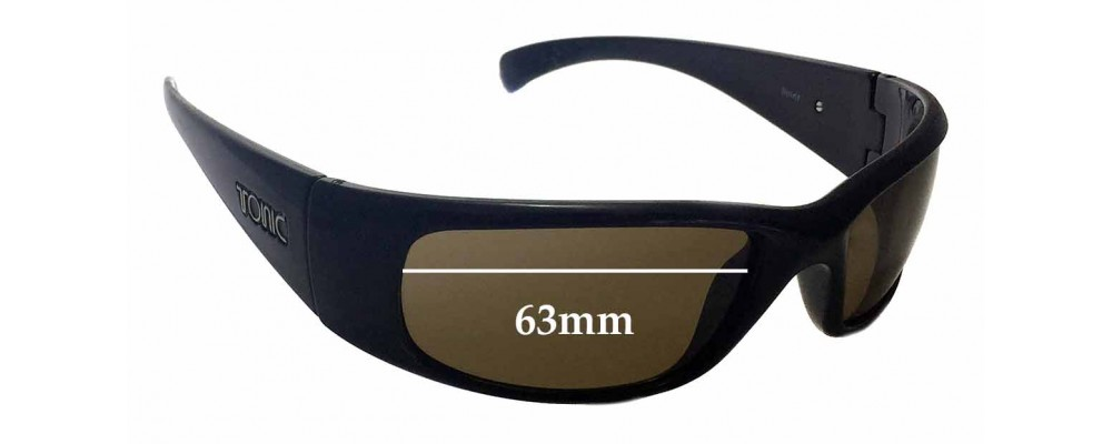 Sunglass Fix New Replacement Lenses for Tonic Spirit - 63mm Wide