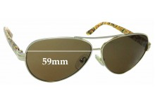 Sunglass Fix New Replacement Lenses for Tory Burch TY6031 - 59mm Wide