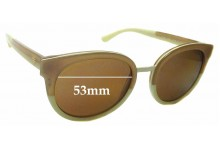 Sunglass Fix Replacement Lenses for Tory Burch TY7062 - 53mm wide