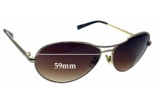 Sunglass Fix New Replacement Lenses for Tory Burch TY6002 - 59mm Wide