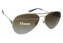 Sunglass Fix Replacement Lenses for Tory Burch TY6038 - 55mm wide