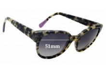 Triwa Thelma Replacement Sunglass Lenses - 51mm wide