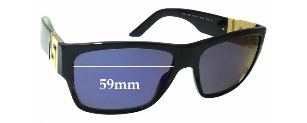 eb3e95be84a Versace MOD 4296 Replacement Sunglass Lenses - 59mm Wide