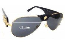 Sunglass Fix Replacement Lenses for Versace MOD 2150-Q 62mm wide