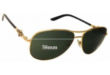 Versace MOD 2157 Replacement Sunglass Lenses - 58mm Wide