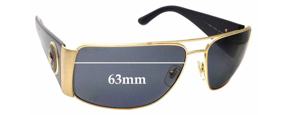 16f3b66b532 Sunglass Fix Replacement Lenses for Versace MOD 2163 - 63mm Wide ...
