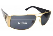 Sunglass Fix Replacement Lenses for Versace MOD 2163 - 63mm Wide