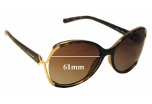 Vogue VO2651-S Replacement Sunglass Lenses - 61mm Wide