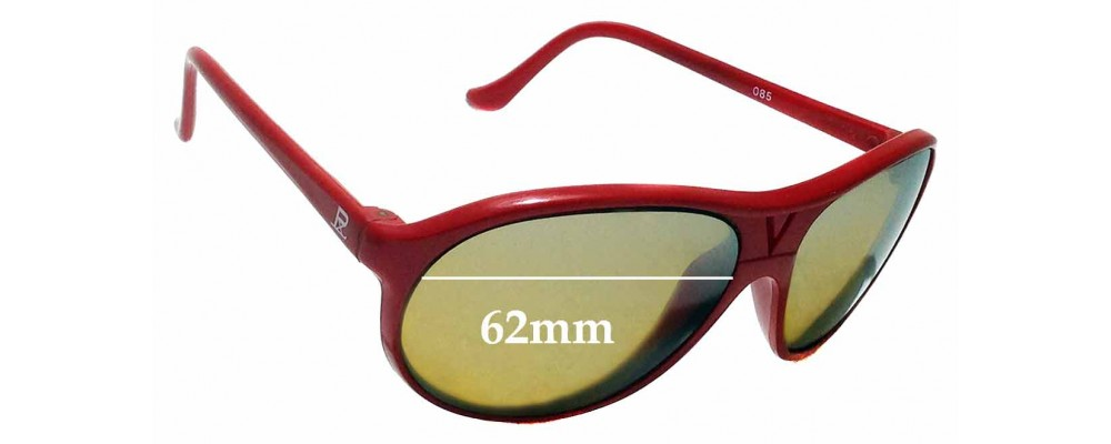 Sunglass Fix Replacement Lenses for Vuarnet Pouilloux 085 62mm wide